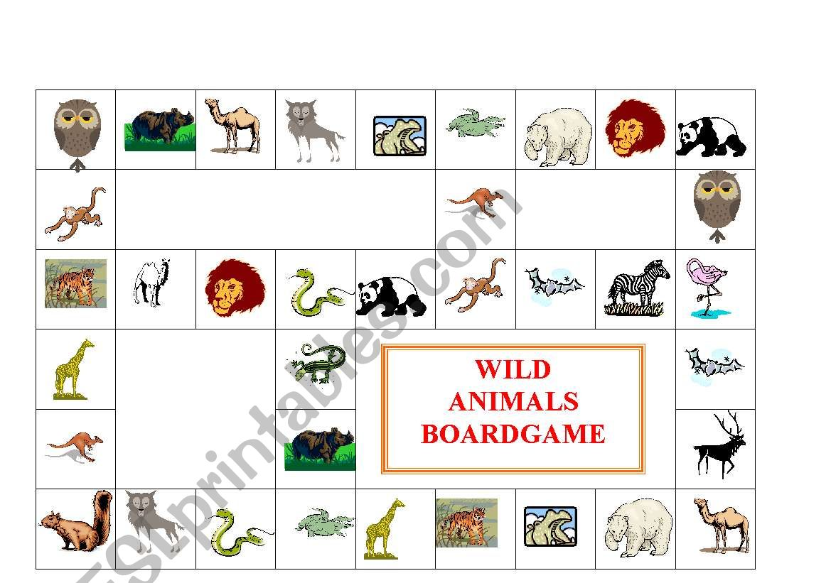 Wild Animals Boardgame