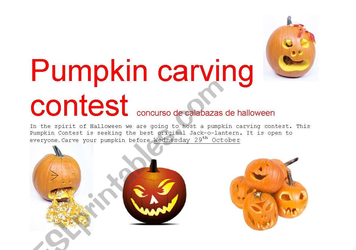 Pumkin Carving Contest