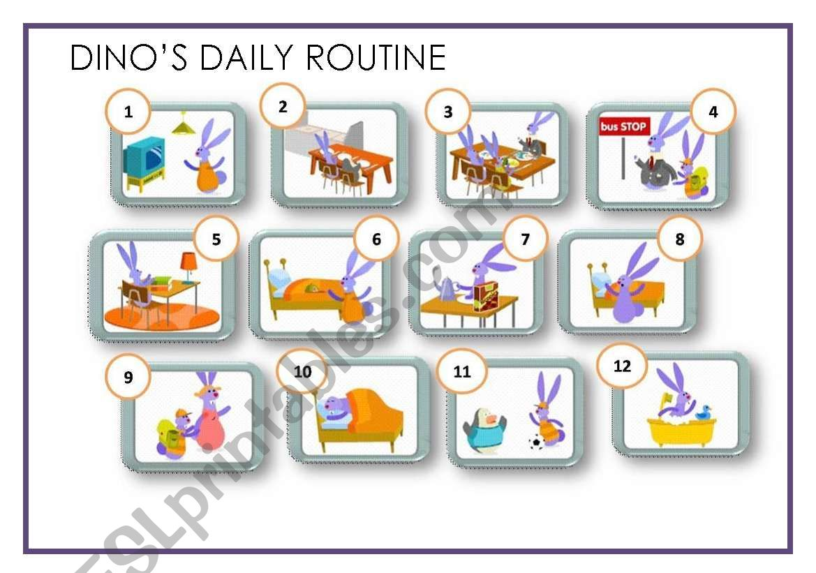 Dino S Daily Routine