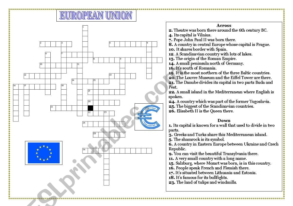 European Union Members Crossword