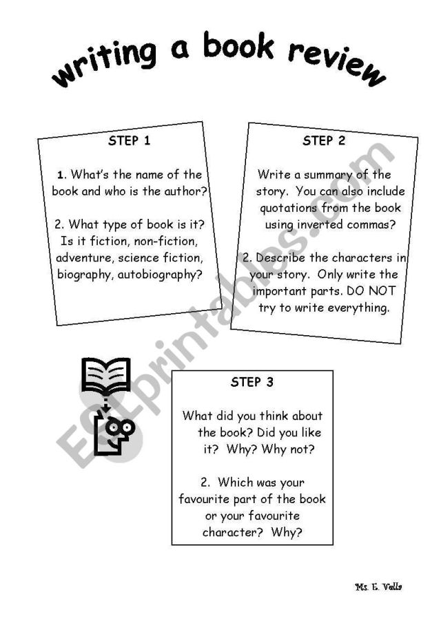 writing a book review - ESL worksheet by edithv