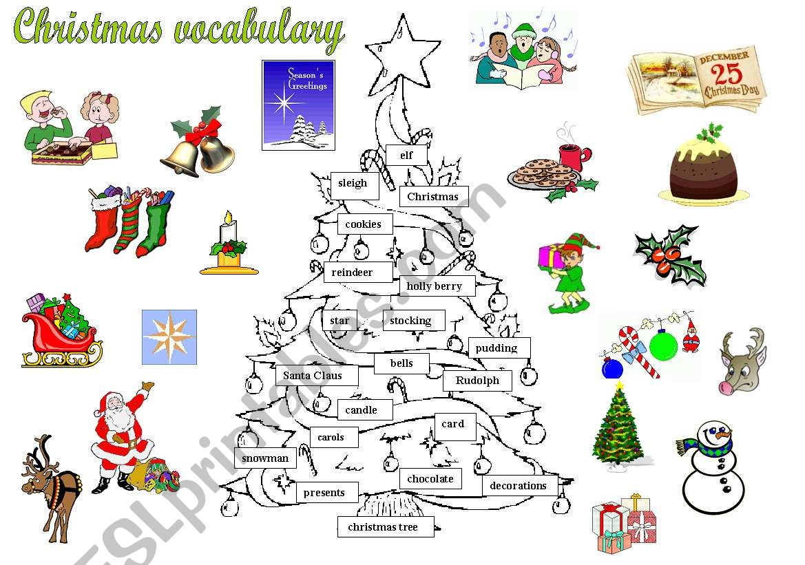 Christmas Tree Vocabulary
