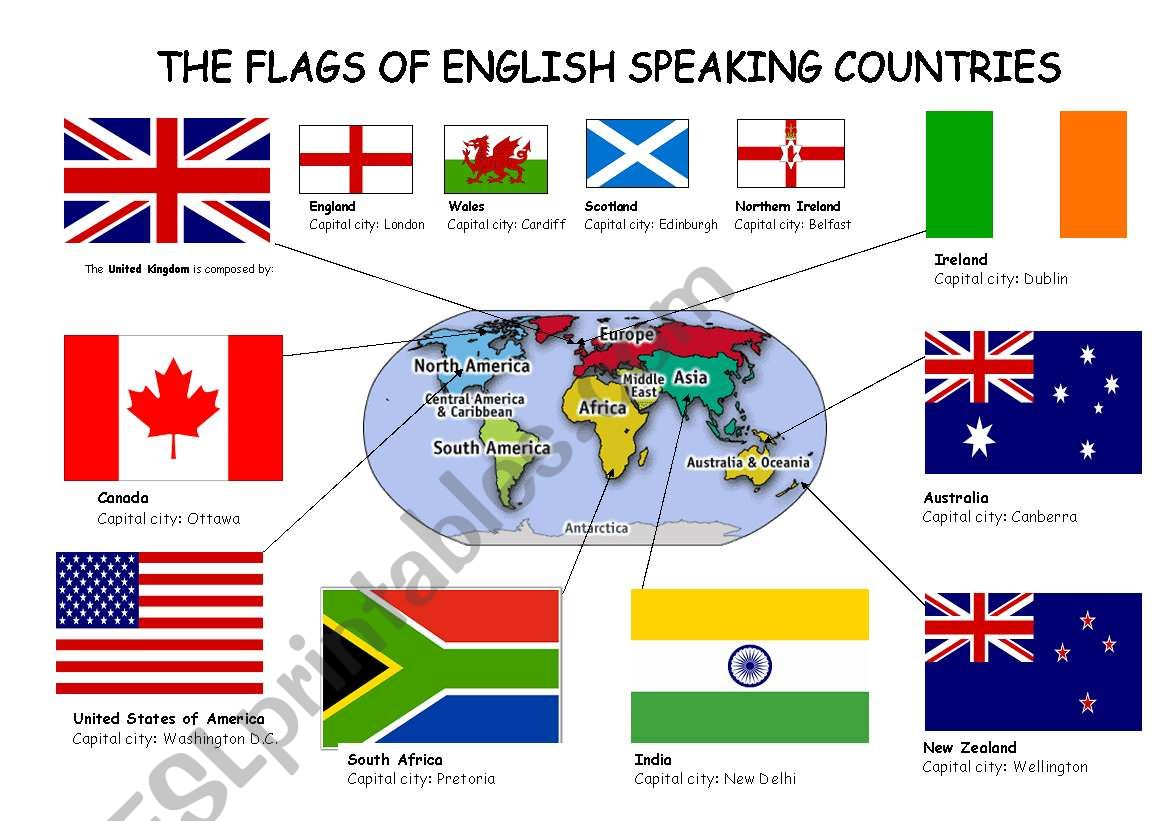The Flags Of English Speaking Countries 2