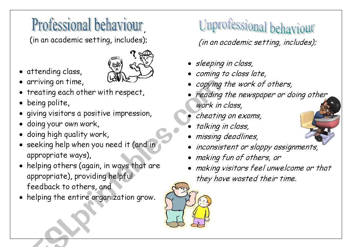 Classroom Behaviour Rules
