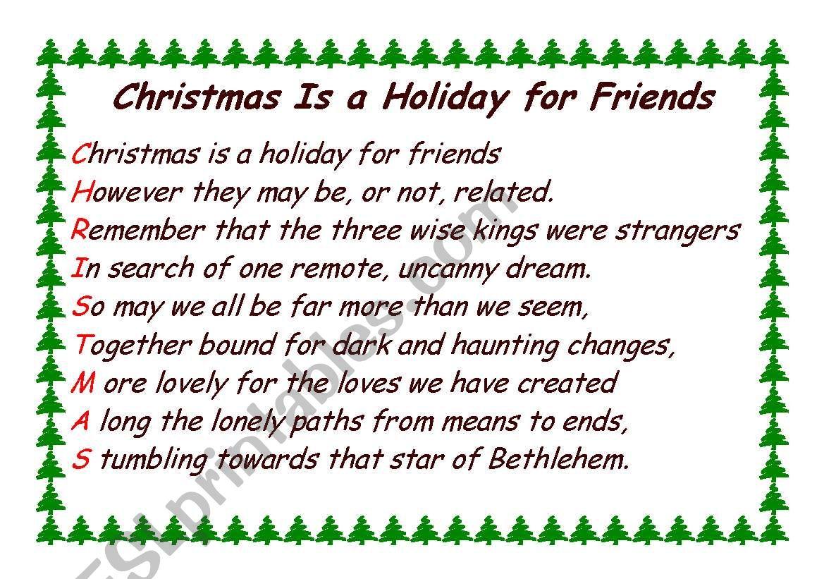 Christmas Acrostic