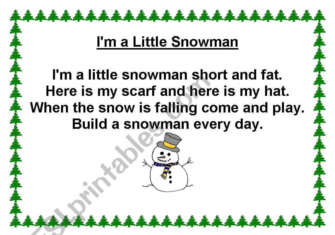 I M A Little Snowman Song