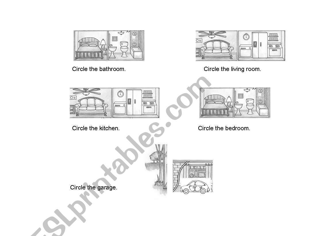 English Worksheets Parts Of The House Reading Comprehension