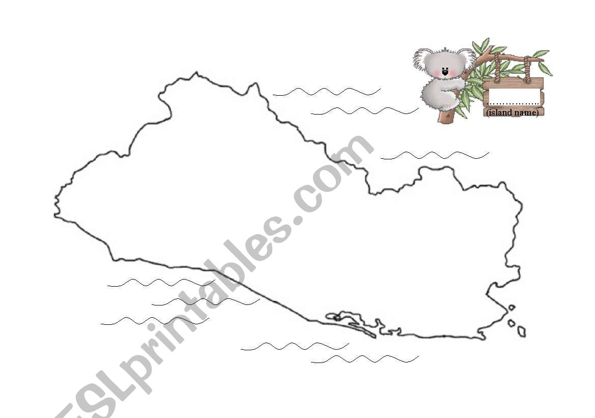 English Worksheets Design Your Island