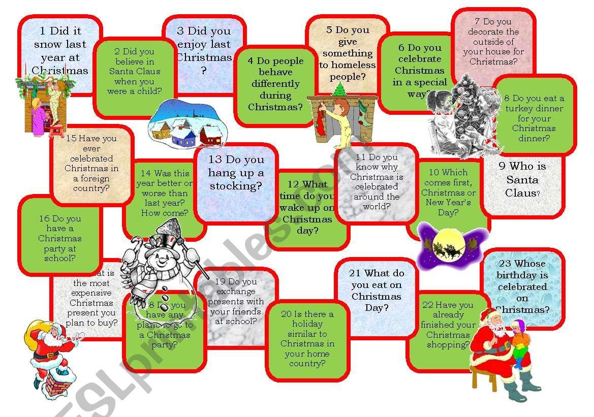 Christmas Worksheet Elementary Esl
