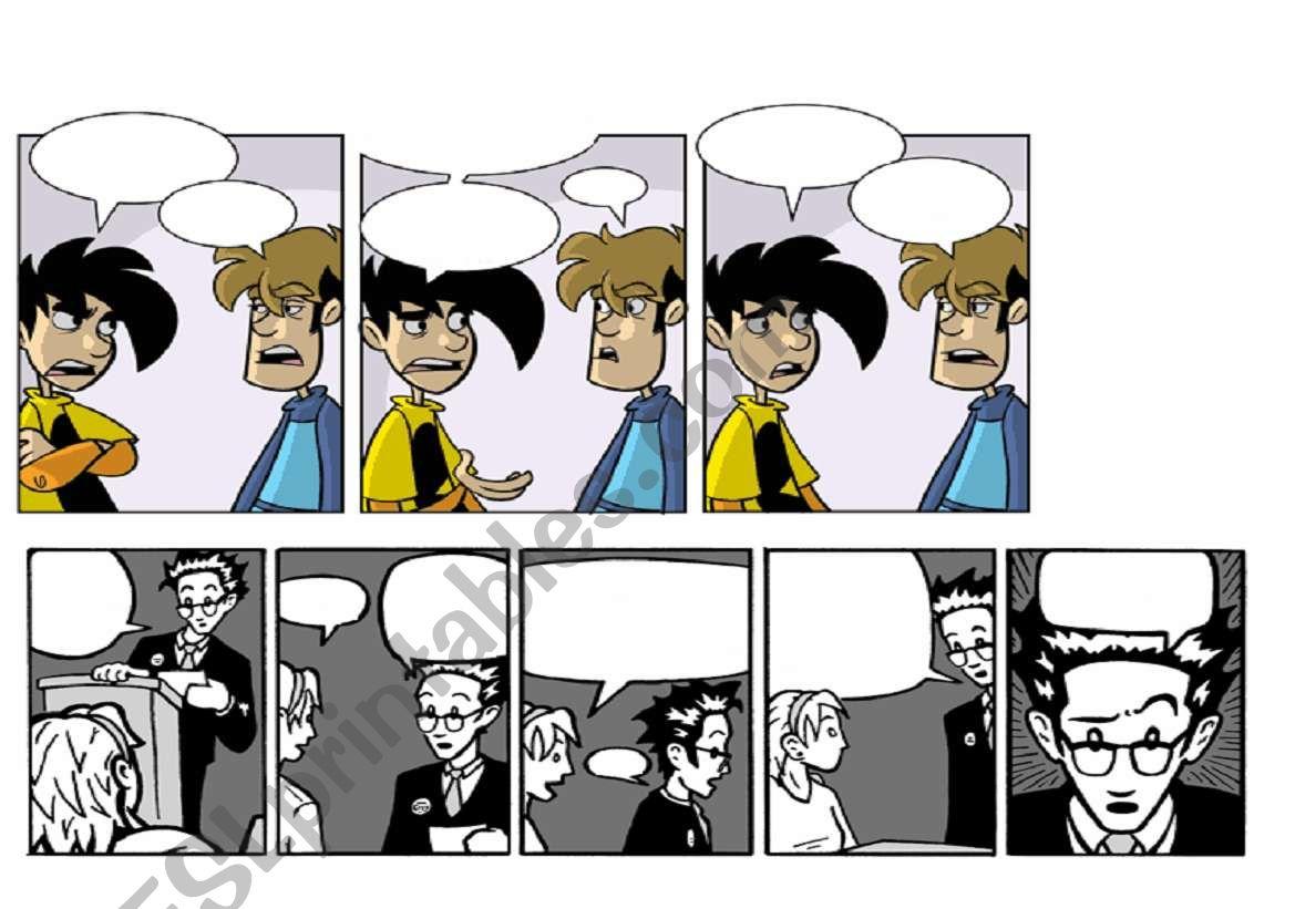 Blank Comic Strips