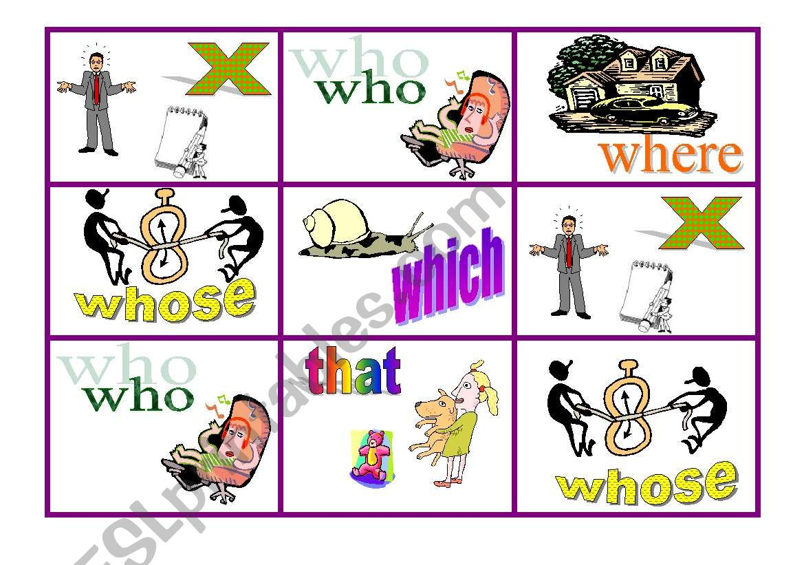 Relative Clauses Game