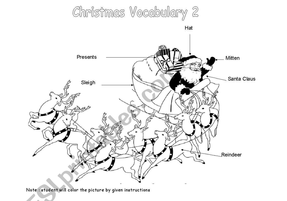 Christmas Vocabulary 2