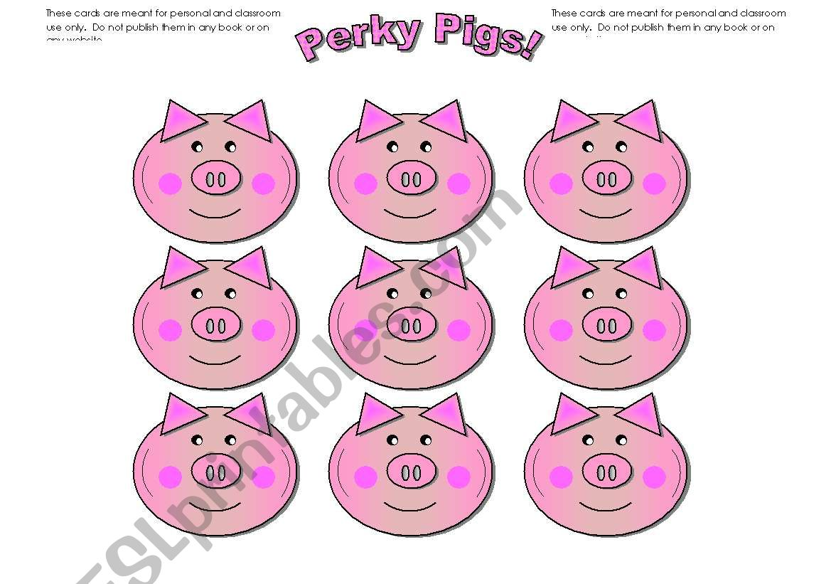 Pig Cards Add Your Own Text