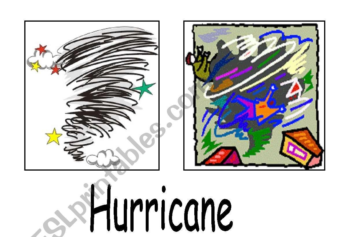 Natural Disasters Esl Flashcards