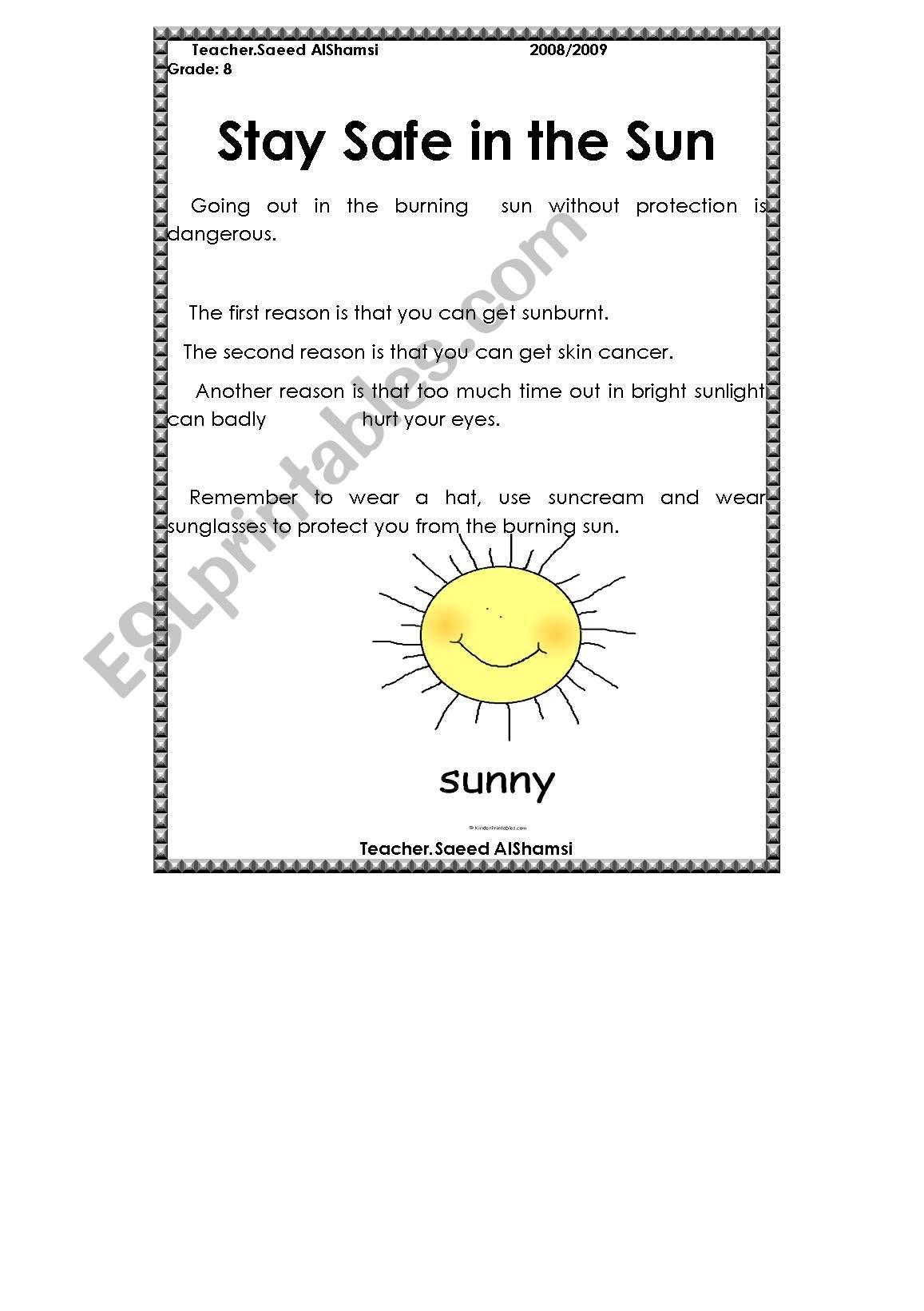 Safe In The Sun