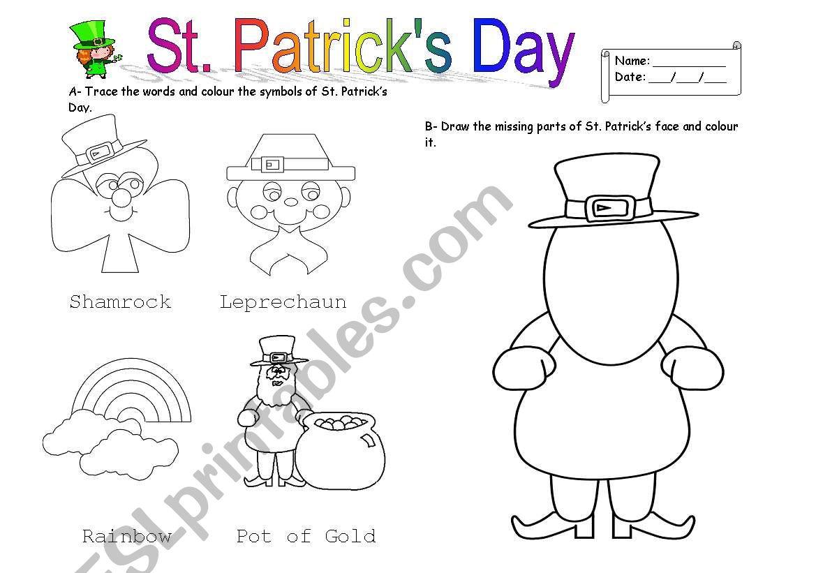 St Patrick S Day Worksheet
