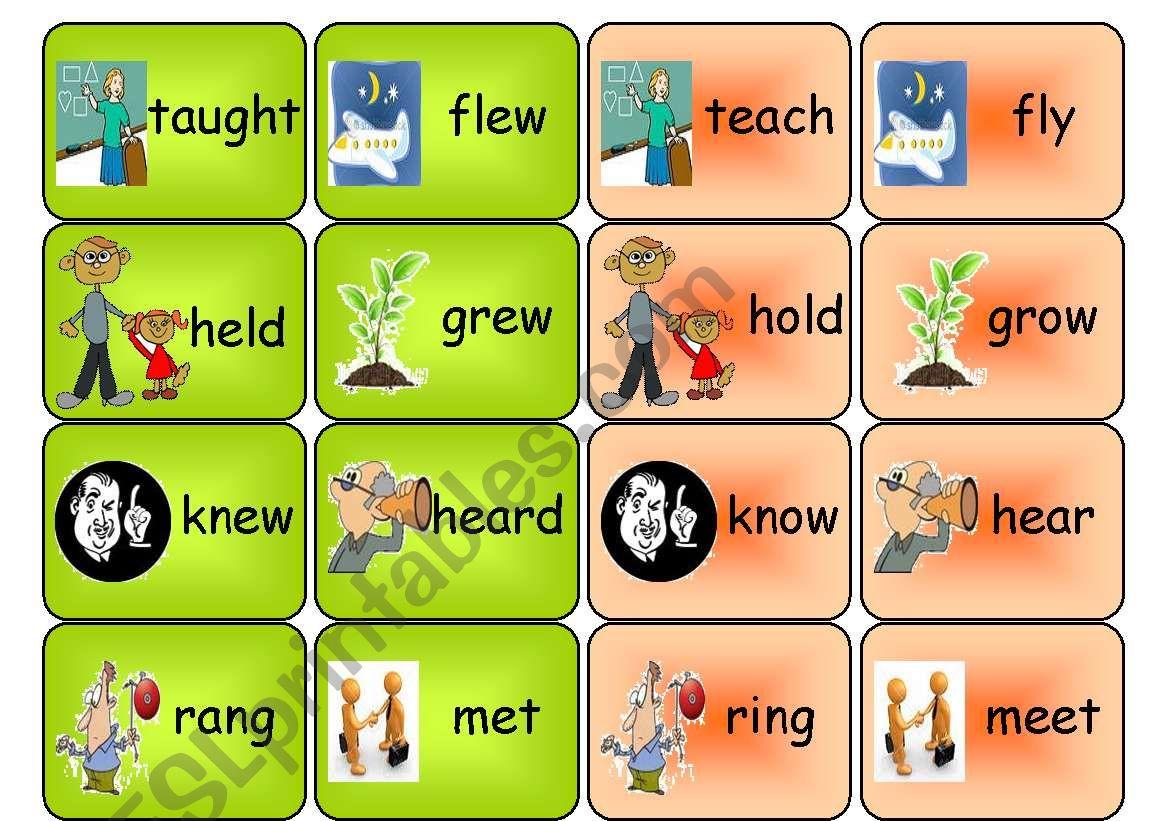 Irregular Verbs Memory Game