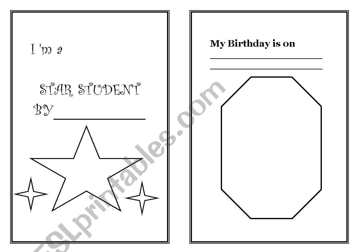 English Worksheets I Am A Star