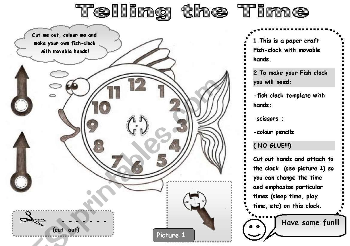 Clock Without Hands Worksheet