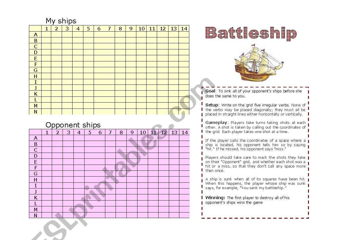 Past Tense Battleship