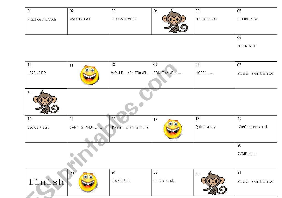 English Worksheets Grammar Game