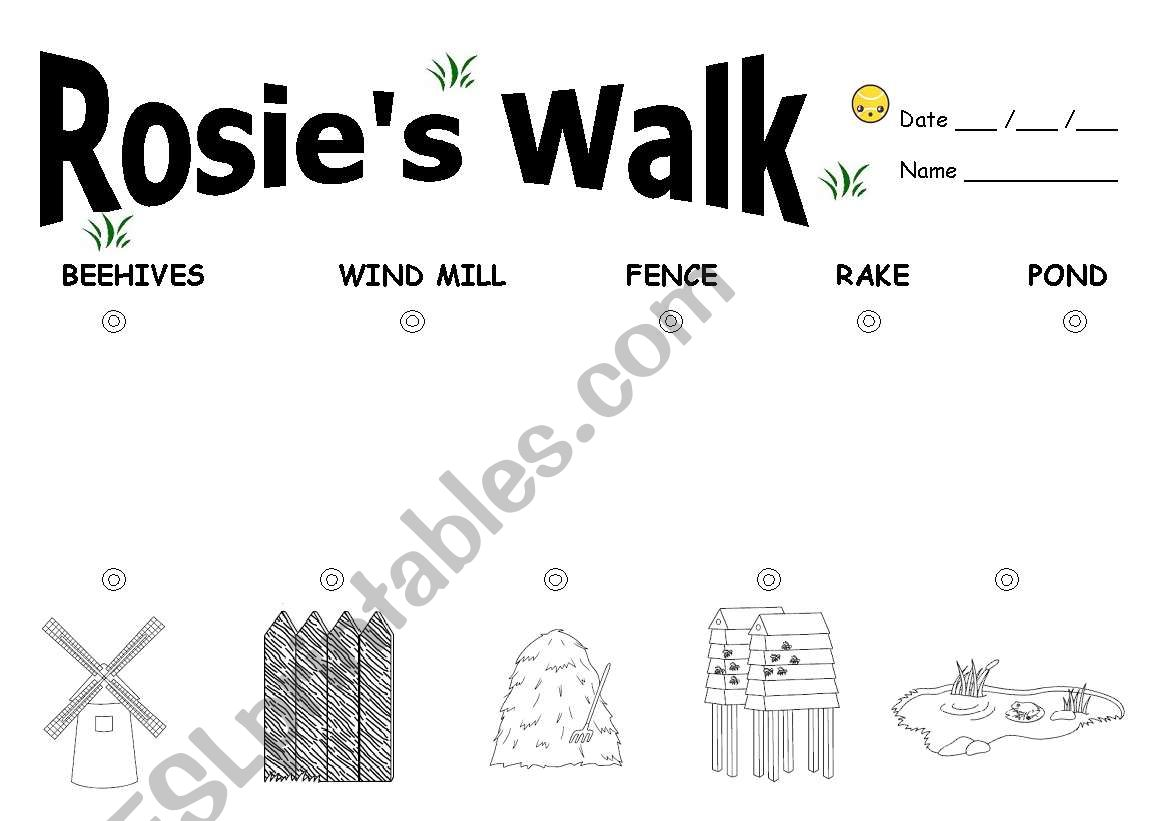 English Worksheets Rosie S Walk