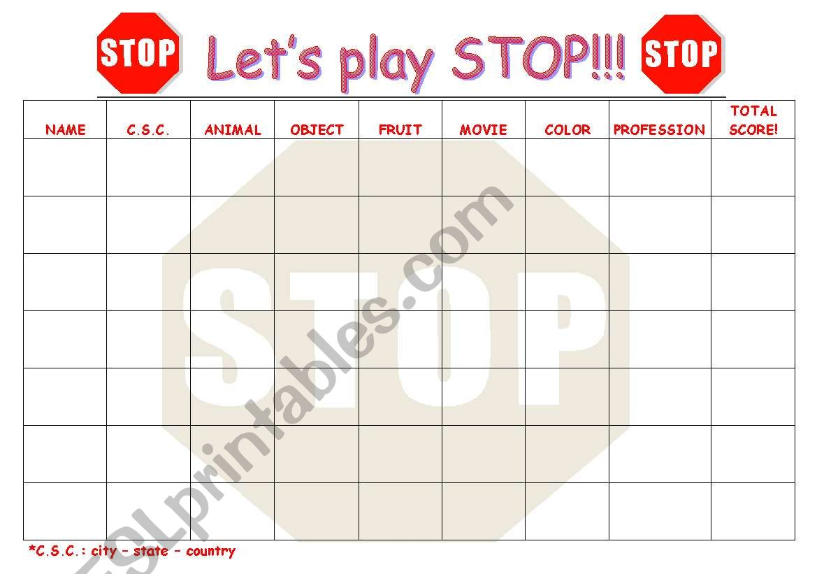 Let S Play Stop