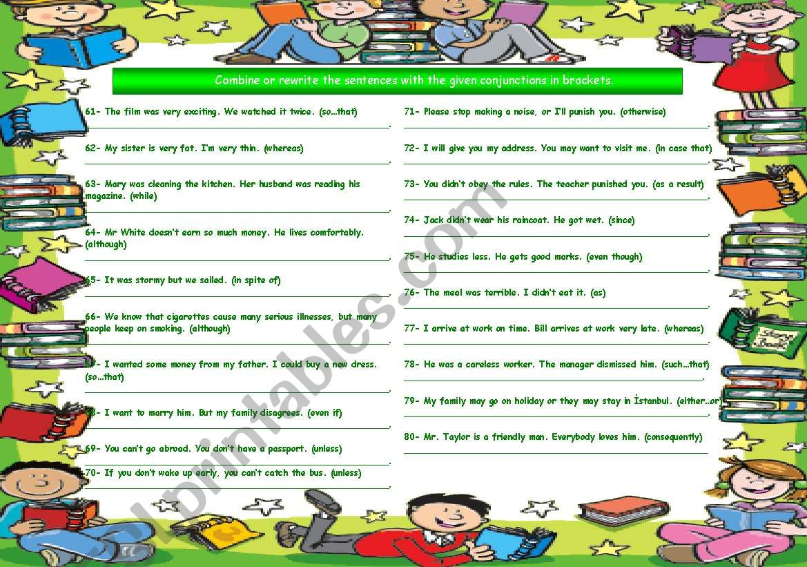 Conjunctions Part 4