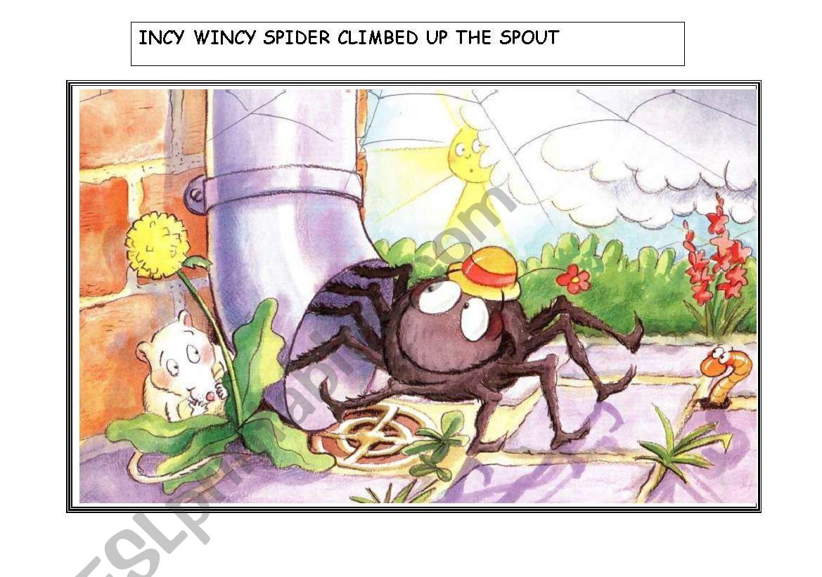 Incy Wincy Spider Story Flashcards 1 Of 2