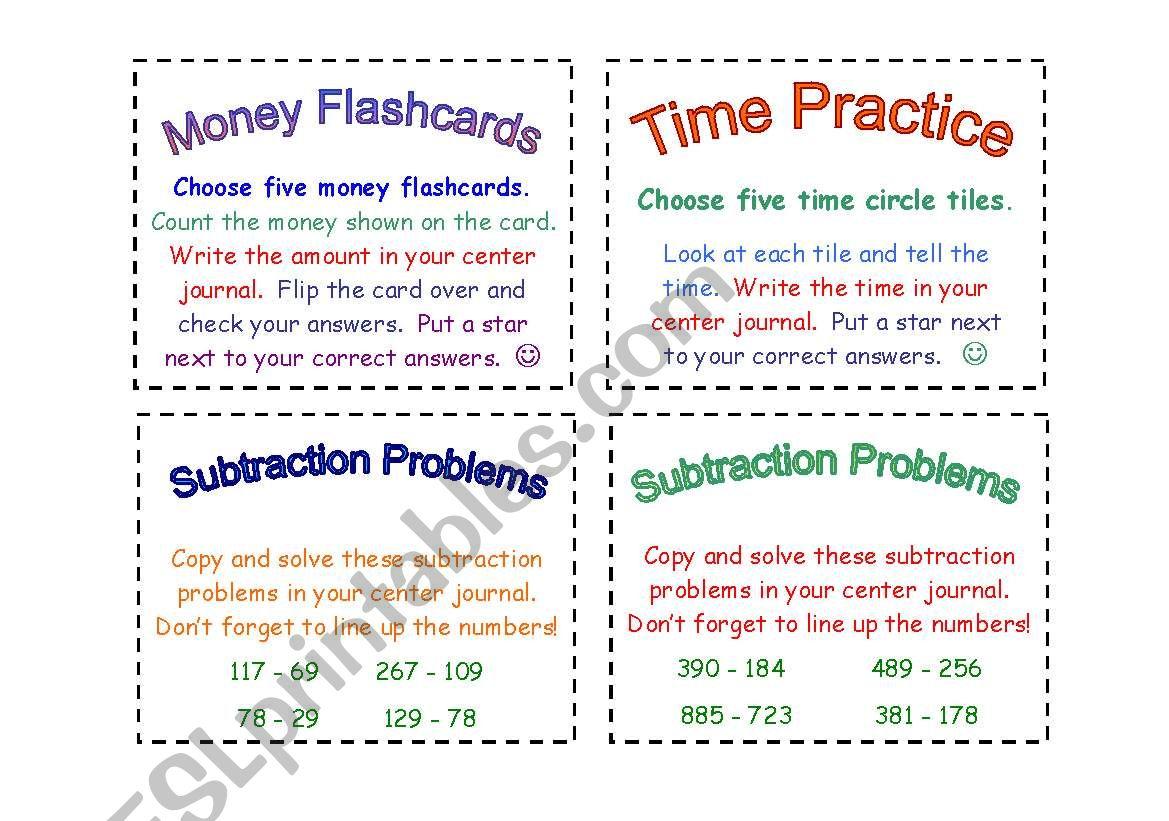 Math Task Cards 2