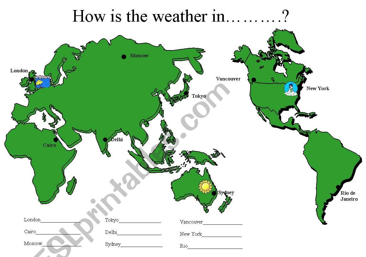 5 Page Weather Qu Amp Ans Activity Sheets