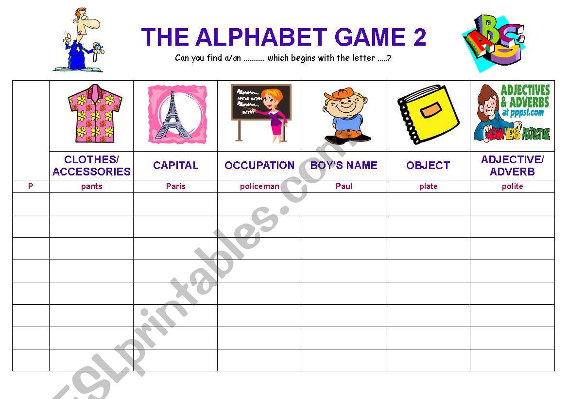 The Alphabet Game 2