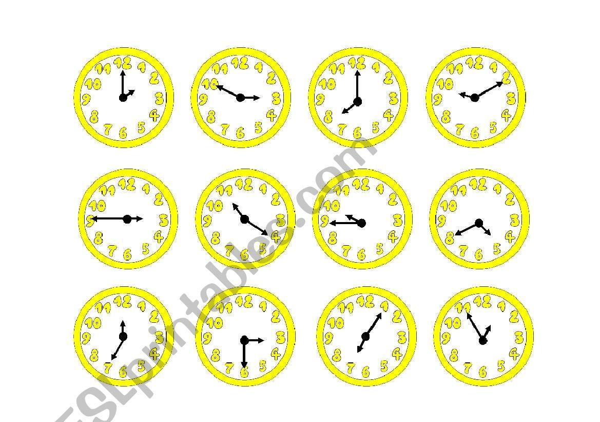 Yellow Clocks
