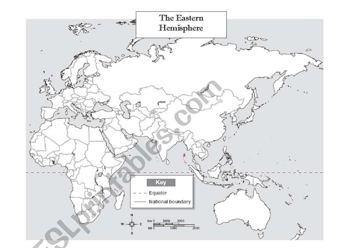 English Worksheets Eastern Hemisphere