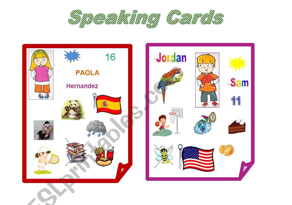 Speaking Cards