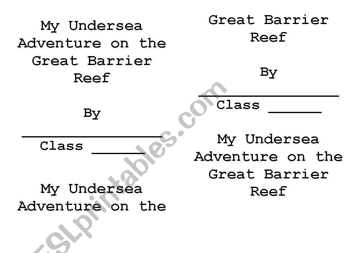 English Worksheets My Undersea Adventure On The Great