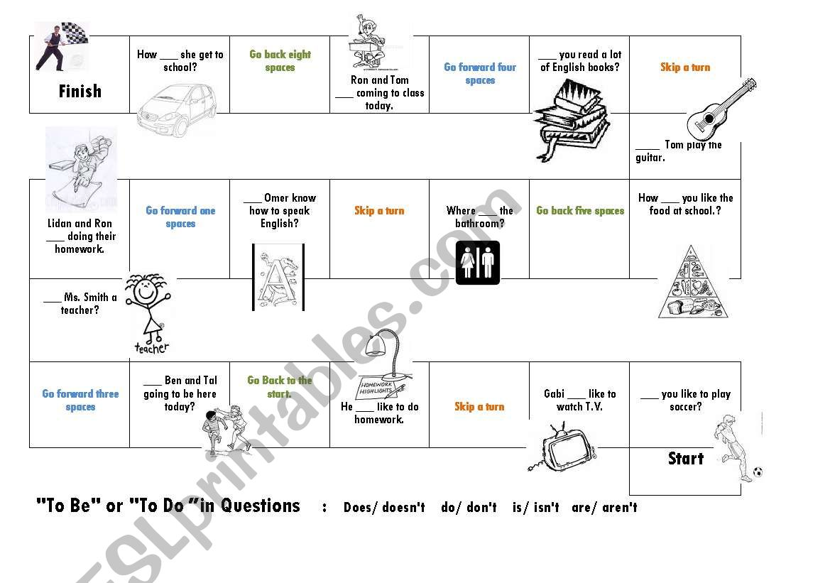 Board Game To Be Or To Do In Questions Does Doesn T