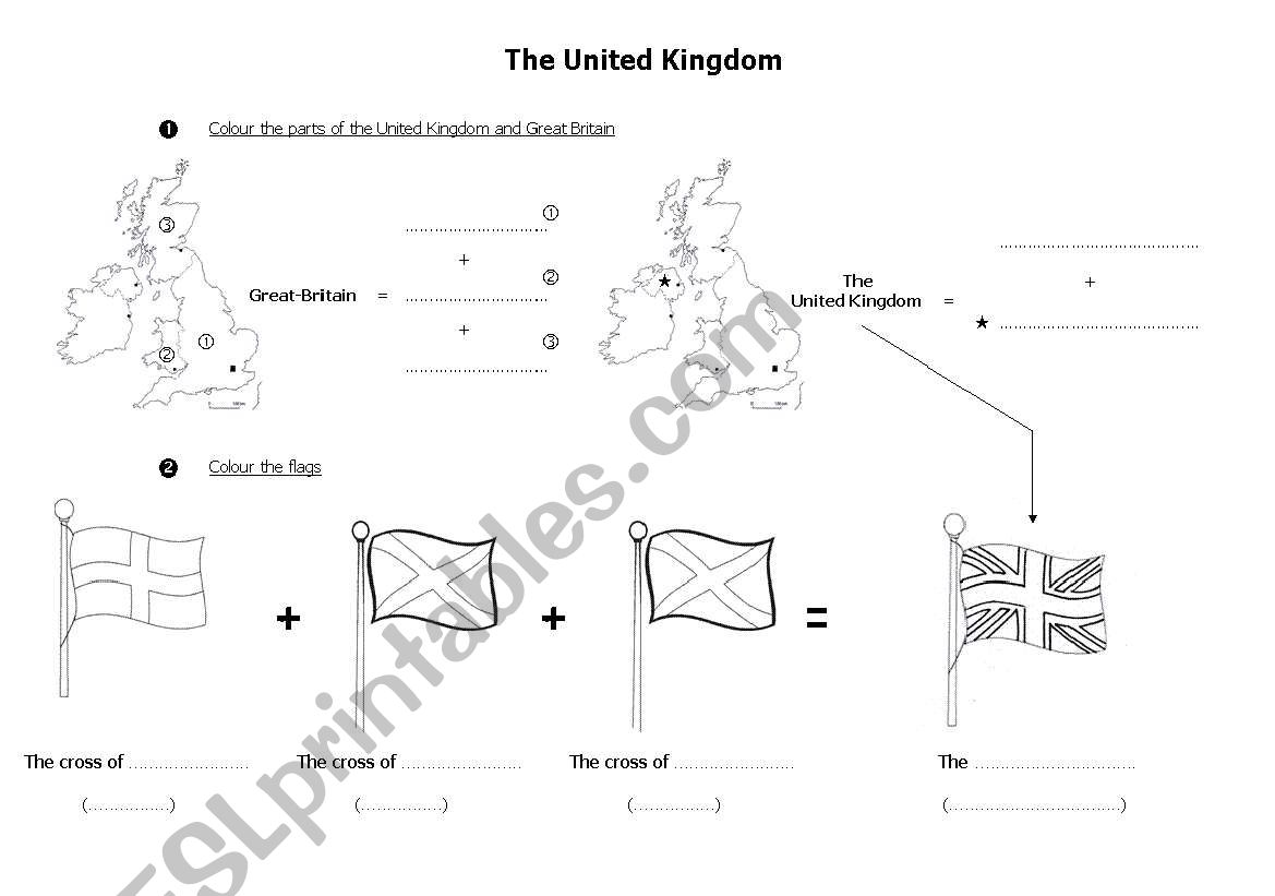 The United Kingdom Map And Flag