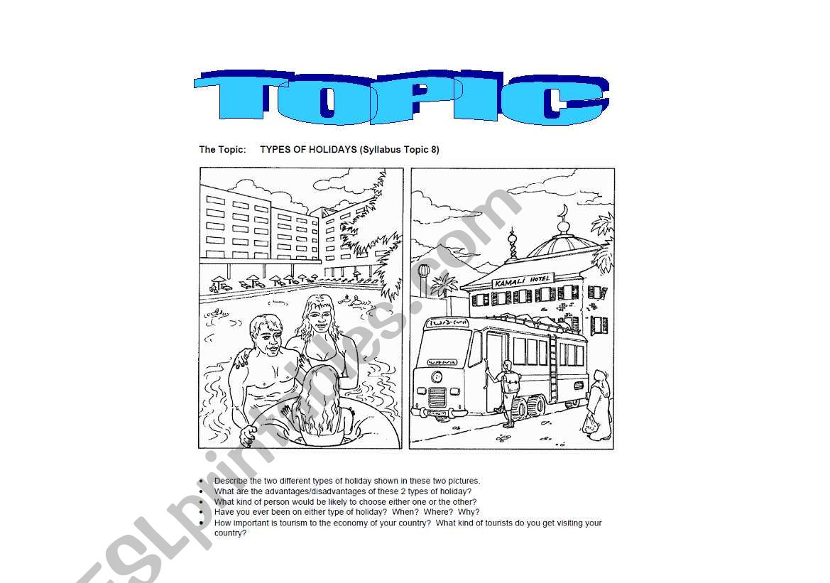 English Worksheets Topic For Trinity Or Other
