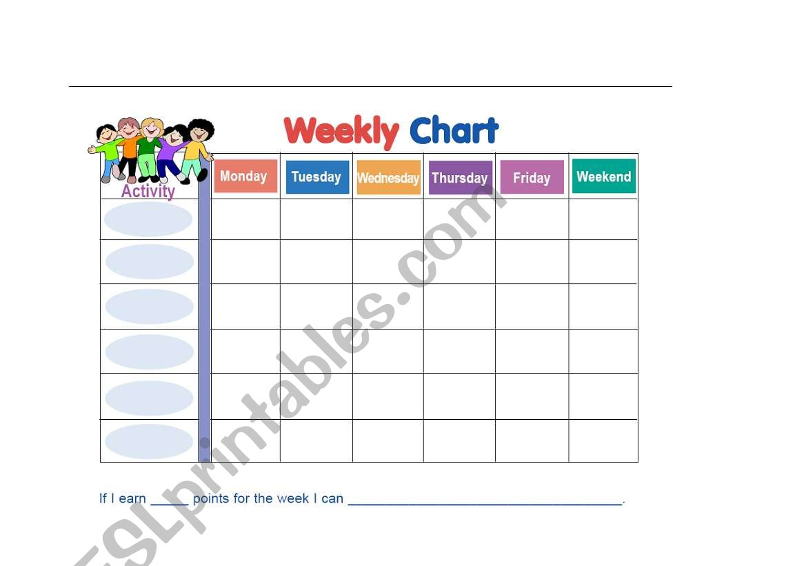 Weekly Chart For Kids