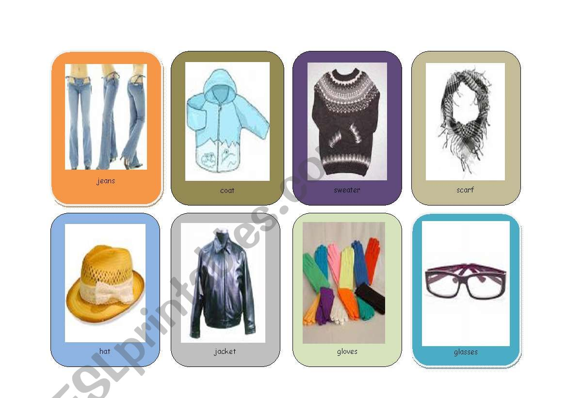 English Worksheets Snappy Clothes Part2
