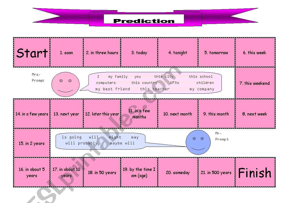 Future Tense Prediction Board Game
