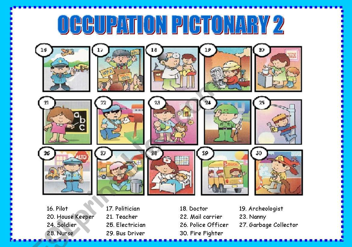 Occupation Pictionary 2