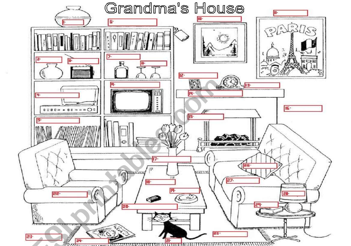 Vocabulary Grandma S House