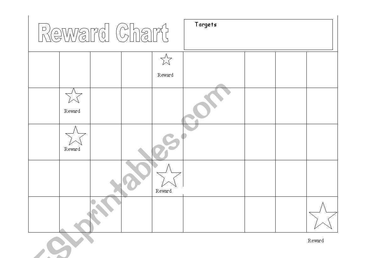 English Worksheets Behaviour Modification Reward Chart