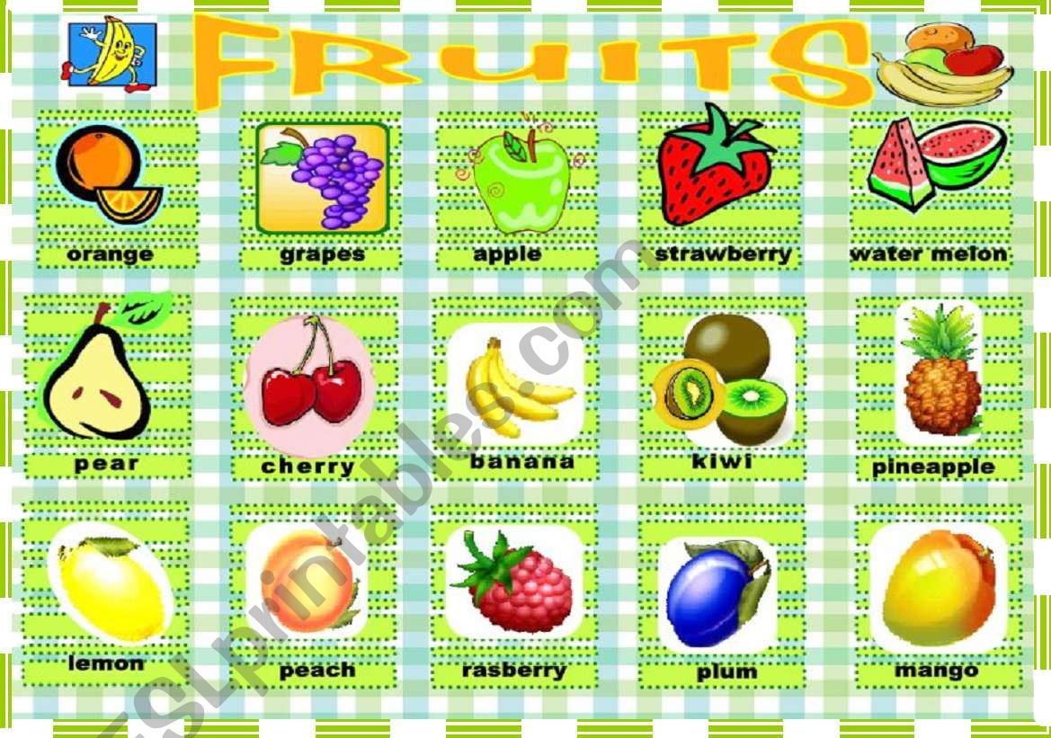 Pictionary Fruits