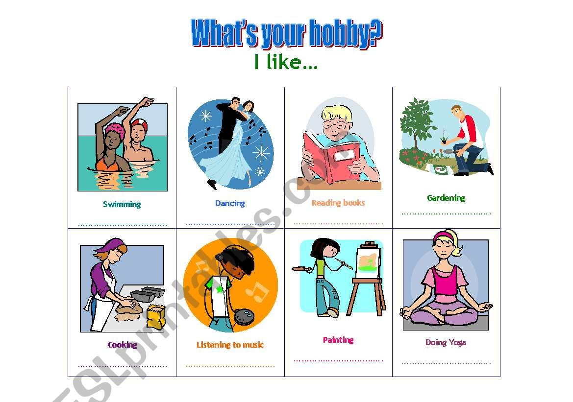English Worksheets Hobby Interview