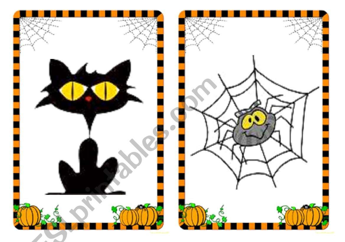 Halloween Flashcards And Word Cards 3 4
