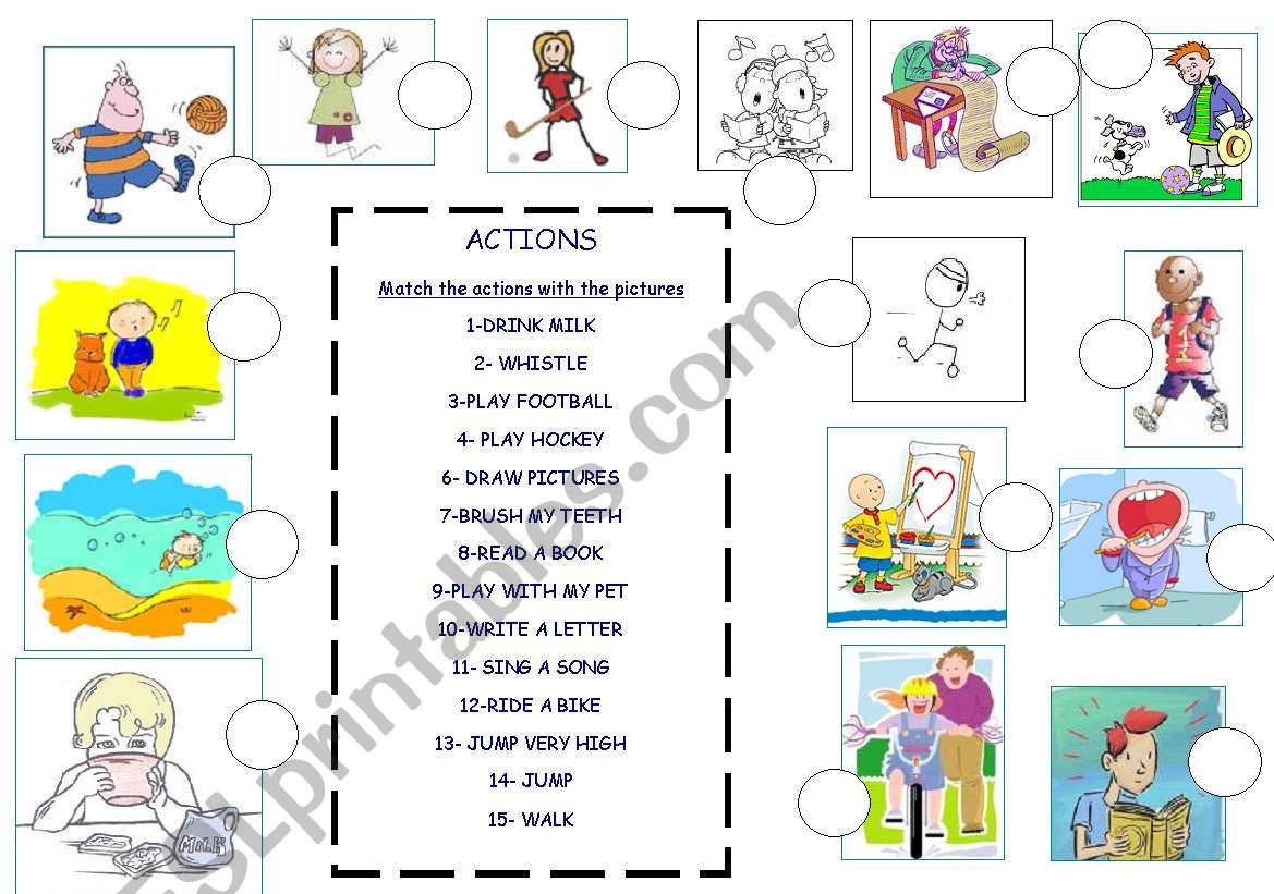 Actions Picture Dictionary