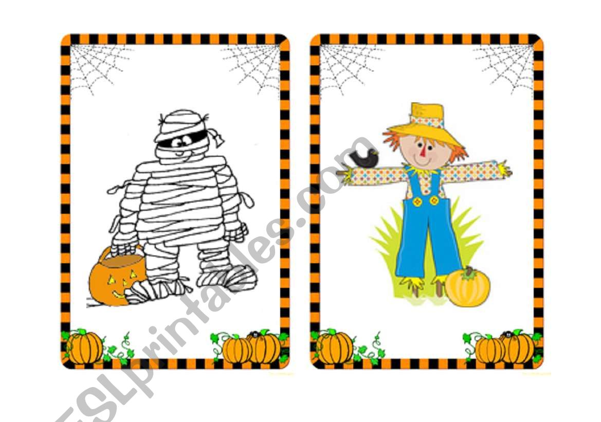 Halloween Flashcards And Word Cards 5 7